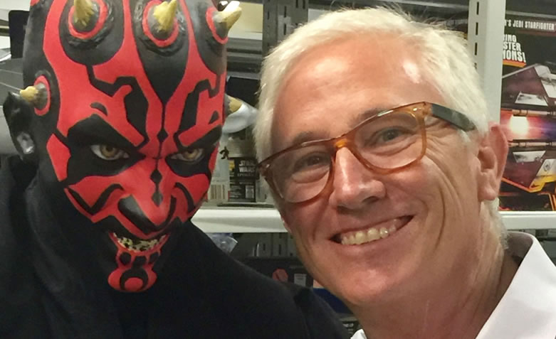Brad with Darth Maul